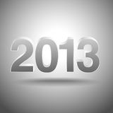 2013 3D Background. Eps10.  New Year 2013 design.  File is layered, and uses simple gradients Royalty Free Stock Photos