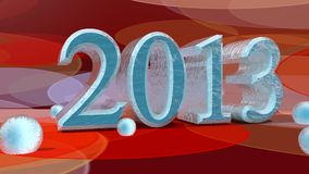 2013 in 3D on bokeh background Stock Photo