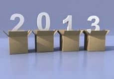 2013 3d dalle caselle Illustrazione di Stock