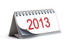 2013 3d desk calendar. 2013 3d year desk calendar Stock Photos