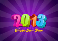 2013 3D numbers. Happy New Year card template. Vector. Editable vector illustration