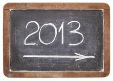 2013 años en la pizarra Imágenes de archivo libres de regalías