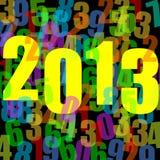 2013 Años Nuevos de ilustración Fotografía de archivo