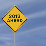 2013 Ahead Stock Photography