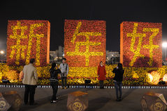 2013 ans neufs chinois heureux la nuit Photographie stock