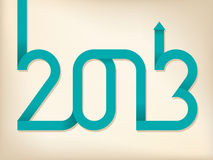 2013 arrow text. 2013 text shaped out of curling ribbon Royalty Free Stock Images