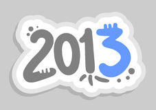 2013 art. Creative design of 2013 art sticker Vector Illustration
