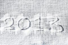 2013 auf Schnee Lizenzfreie Stockfotografie