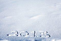2013 auf Schnee Stockfoto