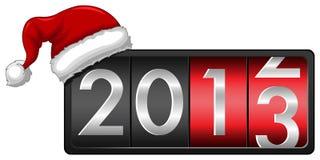 2013 avec le capuchon de Santa Photographie stock libre de droits