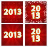 2013 backgounds set Stock Photography