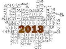 2013 Background. Year 2013 greeting card background Royalty Free Stock Image
