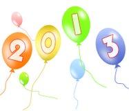 2013 balloon. Abstract colorful ballon on white background Stock Photos