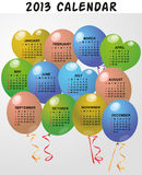 2013 balloon calendar Stock Image