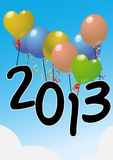 2013 balloons. Illustration of balloons with 2013 text vector illustration