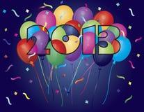 2013 balonów kolorowa ilustracyjna sylwetka Obraz Stock