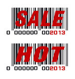 2013 barcode Fotografia Stock