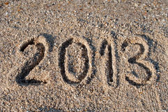 2013 on the beach Stock Images