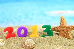 2013 on the beach Royalty Free Stock Photography