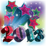 2013 blast in a colorful starry background. 2013 blast in a colorful and powerful starry background Vector Illustration