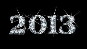 2013 bling διαμάντι Στοκ Εικόνες