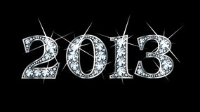 2013 bling diamant Arkivbilder