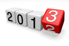2013 Blocks. Blocks with the transition from year 2012 to 2013 on a white background Stock Photo