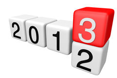 2013 Blocks. Blocks with the transition from year 2012 to 2013 on a white background stock images