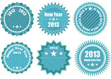 2013 blue badge. Illustration of blue badge with 2013 year text Royalty Free Stock Photography