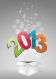 2013 box Royalty Free Stock Images