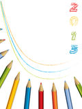 2013 brochure design with pencils. Abstract 2013 brochure design with color pencils stock illustration