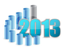 2013 business graph. Illustration design over a white background vector illustration
