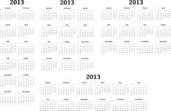 2013 calendários Imagem de Stock Royalty Free