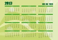 2013 calendar Royalty Free Stock Photo