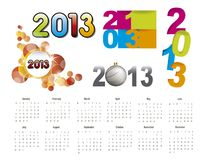 2013 calendar. Over white background.  illustration Royalty Free Stock Image