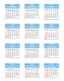 2013 Calendar. Vertical 2013 calendar on white background Stock Photo