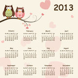 2013 calendar Royalty Free Stock Photography
