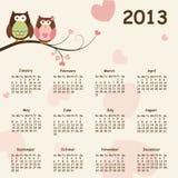 2013 calendar. Calendar for 2013 -  illustration Royalty Free Stock Photography