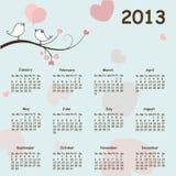 2013 calendar. Calendar for 2013 -  illustration Royalty Free Stock Photo