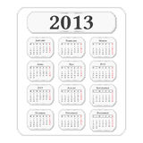 2013 Calendar. Vertical 2013 calendar, vintage style Royalty Free Stock Photos