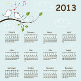 2013 calendar. Calendar for 2013 - illustration vector illustration