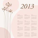 2013 calendar. Calendar for 2013 -   illustration Stock Photos