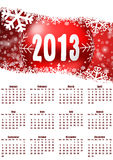 2013 calendar. With christmas balls Royalty Free Illustration