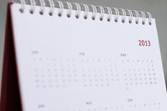 2013 calendar. Represent the 2013 itself, it focus on the red 2013, can be used as business plan, schedule, ceremony, anniversary and other things Royalty Free Stock Photo