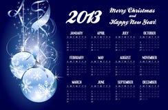 2013 calendar with Christmas greeting Stock Image