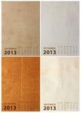 2013 Calendar on paper texture Stock Photo