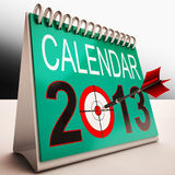 2013 Calendar Shows Future Target Plan Royalty Free Stock Images