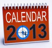 2013 Calendar Shows Year Planner And Schedule Royalty Free Stock Photo