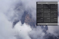 2013 Calendar on single page Royalty Free Stock Photography