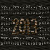 2013 calendar snake skin. Closeup illustration of a patterned snake skin background of year 2013 calendar Vector Illustration